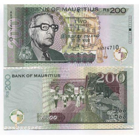 Maurice - Pk N° 57 - Billet de 200 Ruppees