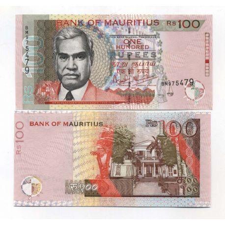 Billet de banque Maurice Pk N° 56 - 100 Ruppees