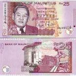 Sammlung von Banknoten Maurice Pick Nummer 49 - Roupie 1999