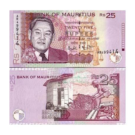 Maurice - Pk N° 49 - Billet de 25 Ruppees