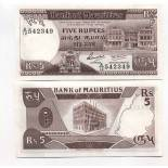 Banknote Maurice Pick number 34 - 5 Roupie 1985
