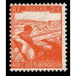 Francobolli francesi N ° 736 Nuevo non linguellato