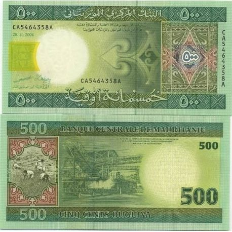 Billets de collection Billet de collection Mauritanie Pk N° 12 - 500 Quguiya Billets de Mauritanie 14,00 €