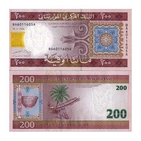 Mauritanie - Pk N° 11 - Billet de 200 Quguiya