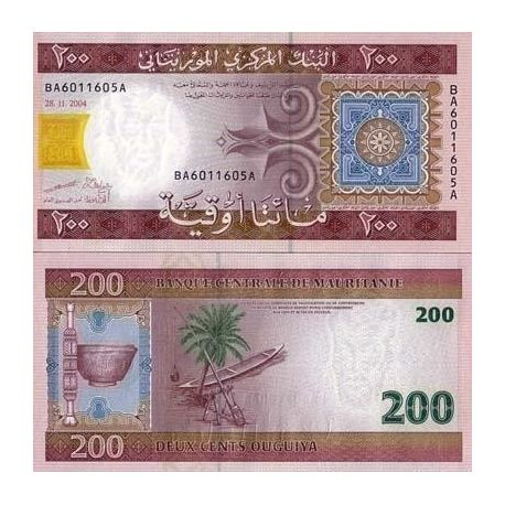 Billets de collection Billet de collection Mauritanie Pk N° 11 - 200 Quguiya Billets de Mauritanie 5,00 €