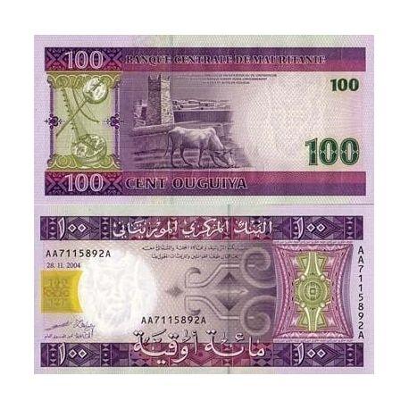Billets de collection Billets de banque Mauritanie Pk N° 10 - 100 Quguiya Billets de Mauritanie 4,00 €