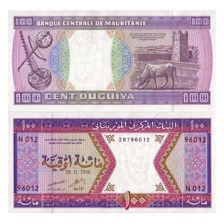 Billets de collection Billets collection Mauritanie Pk N° 4 - 100 Quguiya Billets de Mauritanie 7,00 €