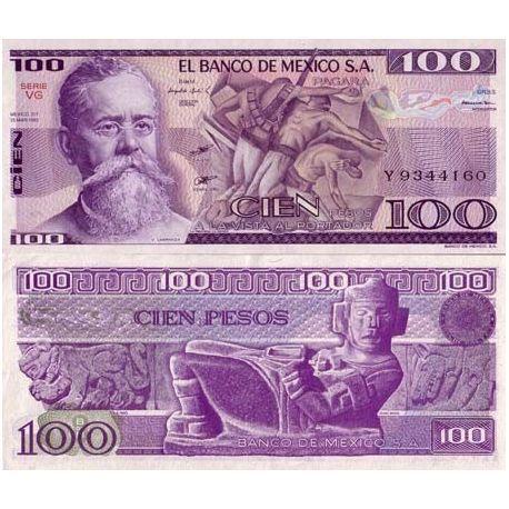 Billet de banque Mexique Pk N° 74 - 100 Pesos