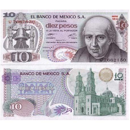 Mexique - Pk N° 63 - Billet de 10 Pesos