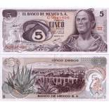 Billets de banque Mexique Pk N° 62 - 5 Pesos