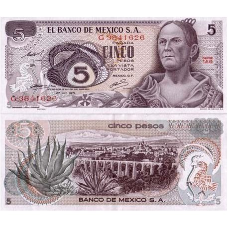 Mexico - Pk: # 62 - Ticket 5 Pesos