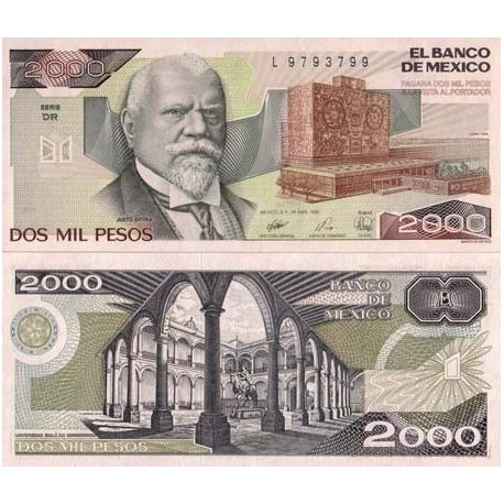 Billets banque Mexique Pk N° 86 - 2000 Pesos