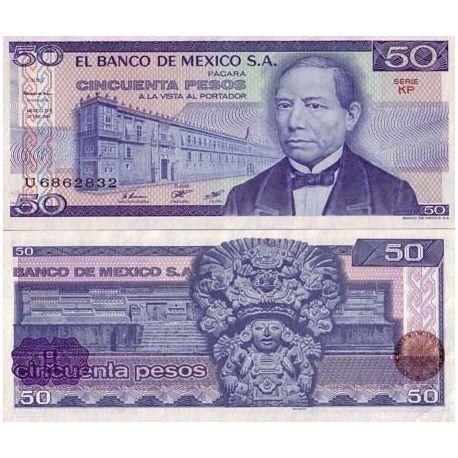 Mexique - Pk N° 73 - Billet de 50 Pesos