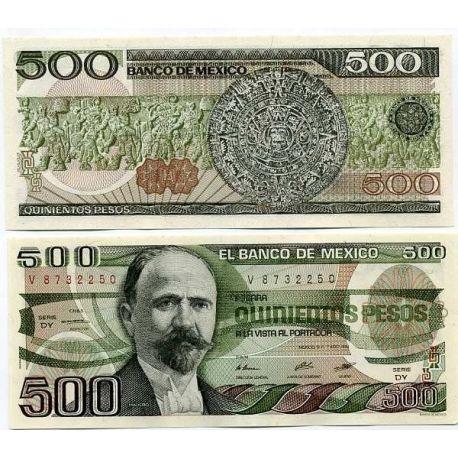 Mexique - Pk N° 79 - Billet de 500 Pesos
