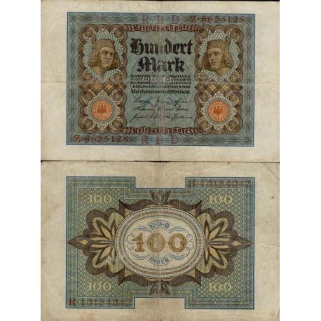 Billet de banque de 100 Mark Pk N° 69 - Billet de collection Europe Allemagne