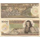Banknoten Sammlung Mexiko Pick Nummer 85 - 1000 Peso