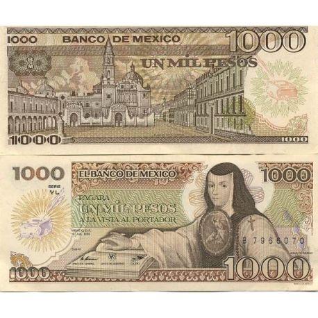 Mexique - Pk N° 85 - Billet de 1000 Pesos
