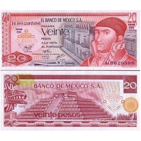 Billet de collection Mexique Pk N° 64 - 20 Pesos