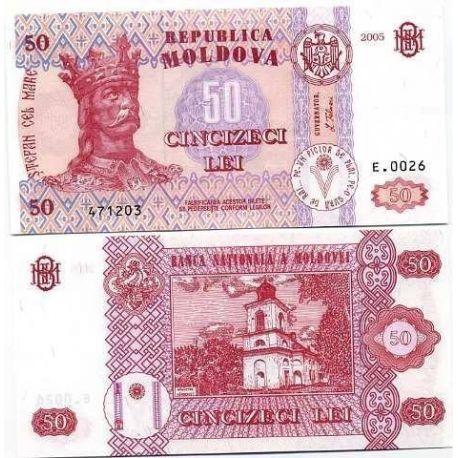 Billets de banque Moldavie Pk N° 14 - 50 LEI
