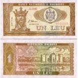 Billets collection Moldavie Pk N° 5 - 1 Leu