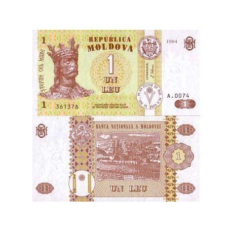 Billet de banque Moldavie Pk N° 8 - 1 Leu