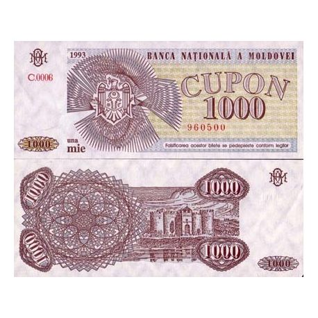 Moldavie - Pk N° 3 - Billet de 1000 Cupon