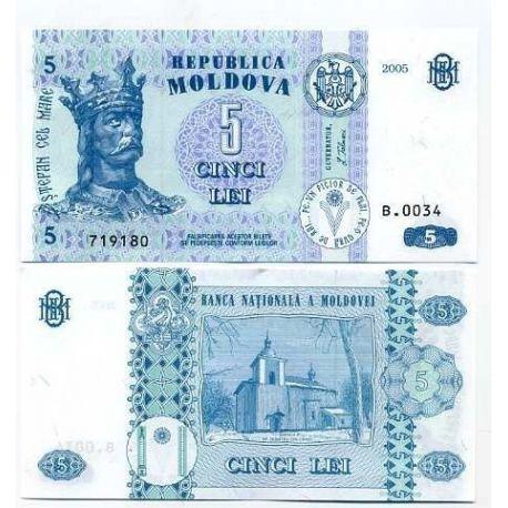 Billet de collection Moldavie Pk N° 9 - 5 LEI