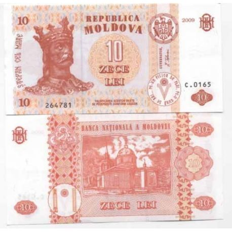 Billets banque Moldavie Pk N° 10 - 10 LEI