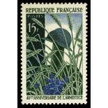 Francobolli francesi N ° 1179 Nuevo non linguellato