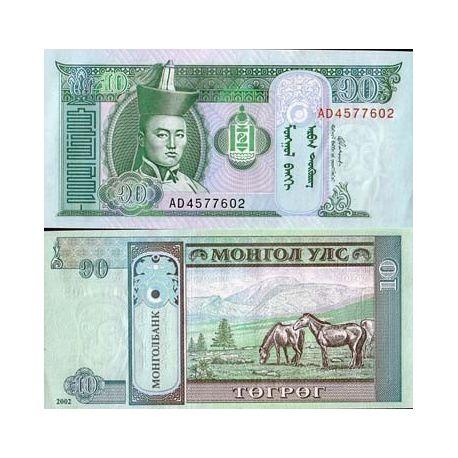 Billets de collection Billets banque MONGOLIE Pk N° 62 - 10 Tugrik Billets de Mongolie 1,00 €