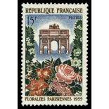 Francobolli francesi N ° 1189 Nuevo non linguellato