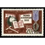 Francobolli francesi N ° 1190 Nuevo non linguellato