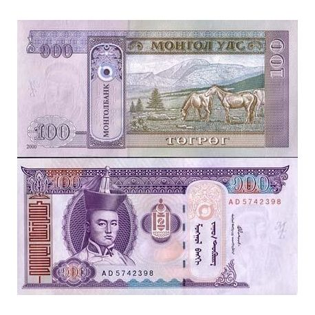 Billets de collection Billets de banque MONGOLIE Pk N° 65 - 100 Tugrik Billets de Mongolie 2,00 €