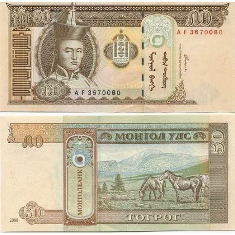 Billets de collection Billets banque Mongolie Pk N° 64 - 50 Tugrik Billets de Mongolie 1,00 €