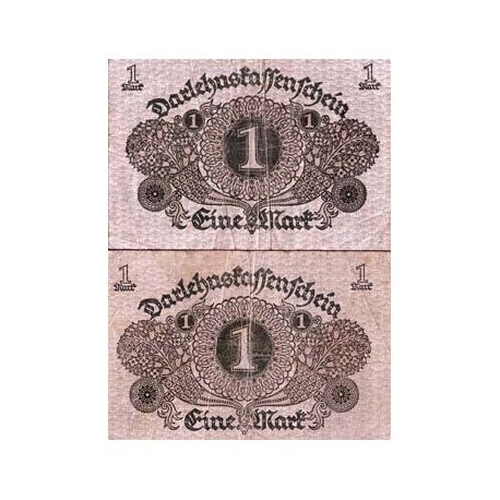 Billet Allemagne collection de 1 Mark Pk N° 58