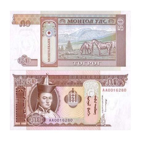 Billets de collection Billet de collection Mongolie Pk N° 56 - 50 Tugrik Billets de Mongolie 1,50 €