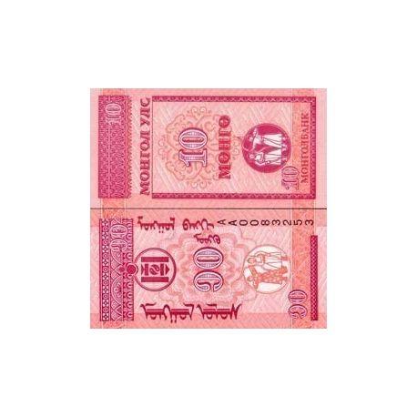 Mongolie - Pk N° 49 - Billet de 10 Mongo