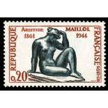 Francobolli francesi N ° 1281 Nuevo non linguellato