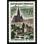 Francobolli francesi N ° 1308 Nuevo non linguellato