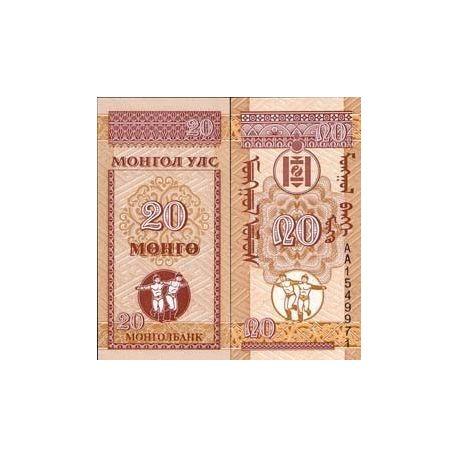 Mongolie - Pk N° 50 - Billet de 20 Mongo