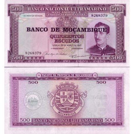 Billets de collection Billet de banque Mozambique Pk N° 118 - 500 Escudos Billets du Mozambique 2,00 €