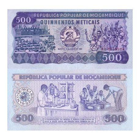 Billet de collection Mozambique Pk N° 127 - 500 Meticais