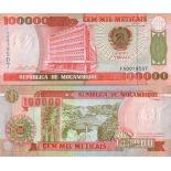 Billets de banque Mozambique Pk N° 139 - 10000 Meticais