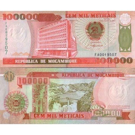 Billets de collection Billets de banque Mozambique Pk N° 139 - 10000 Meticais Billets du Mozambique 1,50 €