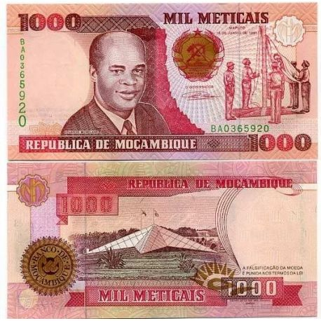 Mozambique - Pk N° 135 - Billet de 1000 Meticais