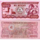 Billet de banque Mozambique Pk N° 132 - 1000 Meticais