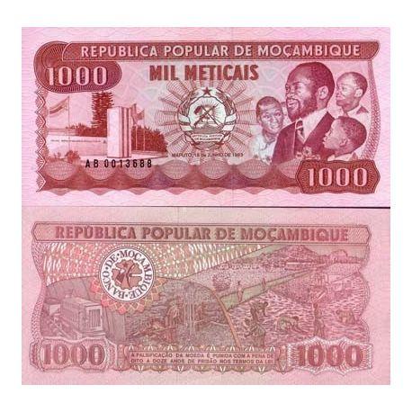 Billets de collection Billet de banque Mozambique Pk N° 132 - 1000 Meticais Billets du Mozambique 5,00 €