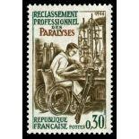 Francobolli francesi N ° 1405 Nuevo non linguellato
