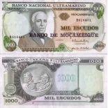 Billets banque Mozambique Pk N° 119 - 1000 Escudos