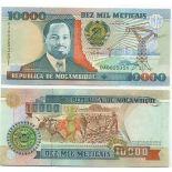 Billet de collection Mozambique Pk N° 137 - 10000 Meticais